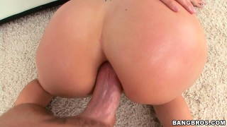 Anita blue loves showing off her big titties while getting her ass fucked