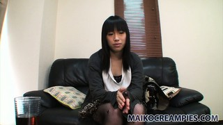 Seductive asian girl with striking brown eyes chiharu is on the prowl for wild action