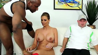 Gorgeous phoenix marie gets rammed by black dick