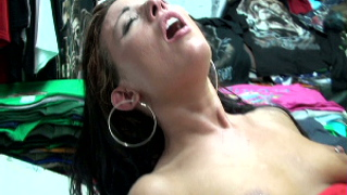 Vanesa gets it hard from jmac at the swap shop.