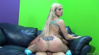 Christie stevens is pummelled in her tight ass by a huge dick