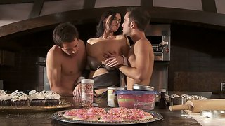 Kinky milf india summer worked up by two hard dicks