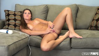 Abby cross treats her awesome vagina like it is her little sister