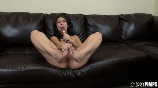 Allie jordan has had enough of toys and needs a cock for real action