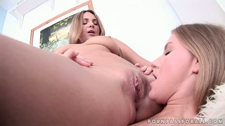 Two gorgeous blondes with perfect asses and tits embark on a hot lesbian adventure