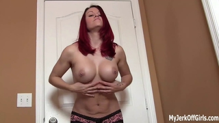 Joi jerk your cock to my big tits