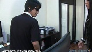 Ladyboy maya drilled in her tight asshole