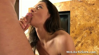 Throbbing, thick-headed penis is everything this horny brunette lusts