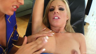 Katerina and trinity are naughty young girls kissing each other and a cock