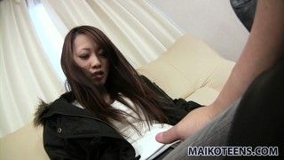 Kanae goes to her interview with an incredible sexy attitude