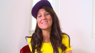 Thisgirlsucks small tits brunette teen casey cumz deepthroat...