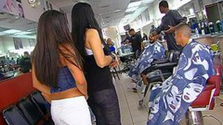 Jenaveve jolie, olivia o'lovely, lacey duvalle are three perfect bodied curvy pornstars that invade the barbershop, bare their assets and take cock. watch ebony lady and two latinas make guy happy.