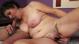 Brunette kata with big hooters gets her slit attacked by hard love wand