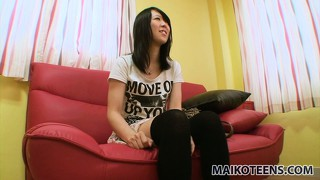 Cute asian babe natsumi shows off her tiny tits, superb ass and her tight snatch