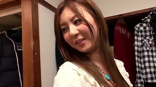 Sexy japanese girl yui tatsumi willingly fucked with her boyfriend in the dressing room