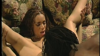 Preparing dee's caramel pussy for the penetration with a big black shlong