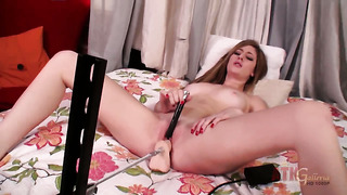 Blonde exotic casana lei shows nice solo tricks with her new sex toy