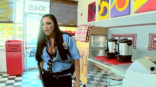 Busty police woman humiliated hard by her boyfriend