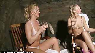 Silvia saint spends a day at the lesbian spa