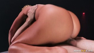 Thick and sexy blonde bitch rides on her man?s cock with ease