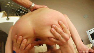 Cristina and dona getting their tight buttholes stretched to the max
