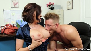Boss krissy lynn gives her new assistant some special duties