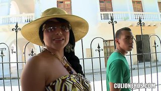 The noteworthy milf sandra walks with a friend of her son