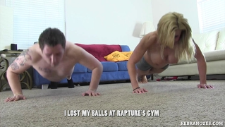 I lost my balls at rapture's gym ballbusting