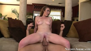 Nice ass brunette sam summers rides wild and gets nailed from behind