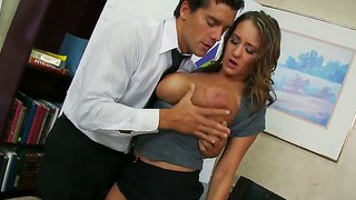 Babe with huge titties trina michaels is fucking hard
