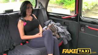 Faketaxi hot pole dancer with huge tits caught on camera