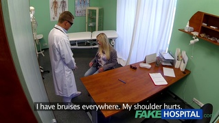 Dizzy young blonde takes a creampie and starts to fall for t...