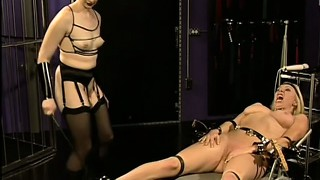 Sexy adrianna nicole gets tied up while claire adams tortures her