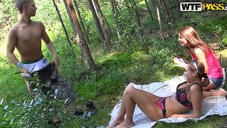 Real outdoor sex with a handsome fellow, who has a big cock