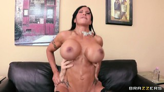 A big dick shoved balls deep in her cunt is what this stacked mom needs now