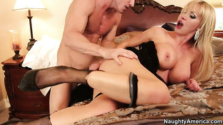 Nikki benz gets turned on then slam fucked by johnny sins's rock hard love torpedo