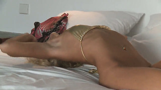 Megana shows every inch of her body before her plays with herself on cam