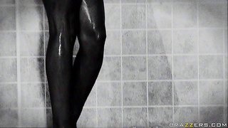 Breanne benson is a perfect bodied cheerleader with dark hair, firm beautiful ass and pretty big tits. she shows it all while taking a shower. johnny sins spies on her and she doesn't mind making him happy.