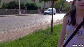 Cute charlotte madison stripping in public place