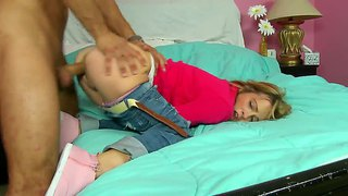 Overexcited teen laney boggs rides her boy danny