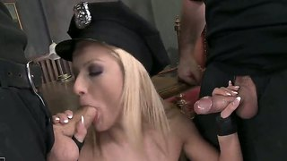 Two kinky dudes are having sex with chary kiss
