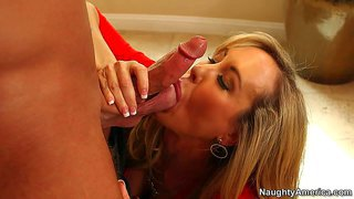 Big boobed brandi love hires a guy for male escort service and gives his hard dick a try in the comfort of her kitchen. she's s sexy mature woman with really nice huge boobs. so he fucks her cunt with big desire.