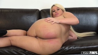 Julie sticks a finger or two in and shows off her ass again while toying