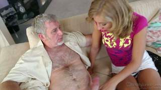 Young blonde chastity lynn has sex with older man