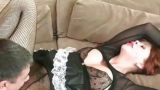 Brooklyn lee is a maid who knows how to clean her bosss cock...