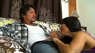 Asa akira deep throating tommy gunn's big dick