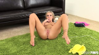Melissa mathews has a pussy full of panties and a vibrator working magic