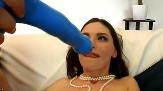 Stunning cloee in sexy black stockings is getting an abysmal anal drilling from horny stud