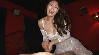 Japanese babe takes on multiple cocks