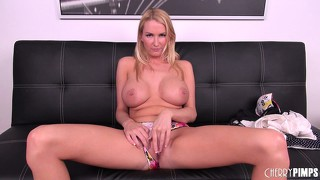 Blake rose waits for a real dick to arrive and cover her in hot cum